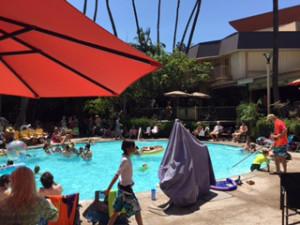 tiki oasis pool party